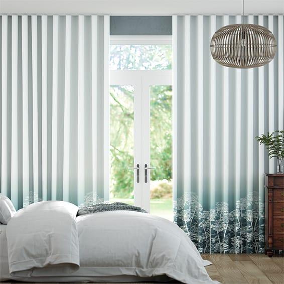 Wave Dill Ocean Curtains