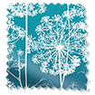 Wave Dill Teal Curtains sample image