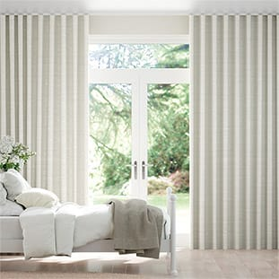 Wave Dupioni Faux Silk Oyster Wave Curtains thumbnail image