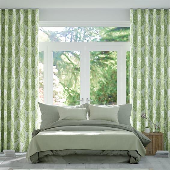 Wave Elm Fennel Curtains
