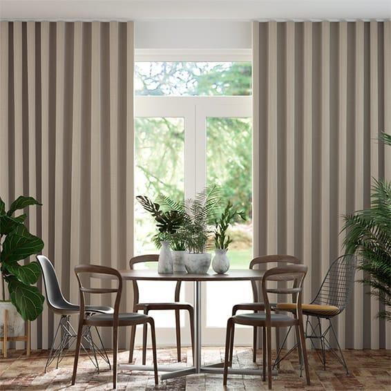 Wave Elodie Antique Grey Wave Curtains