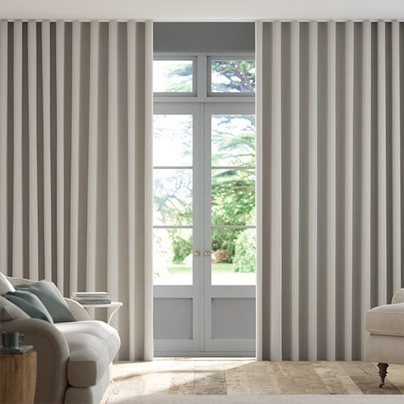 Wave Elodie Dove Grey Curtains