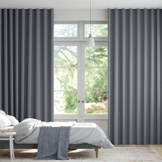 Wave Encanto Shimmering Blue Curtains