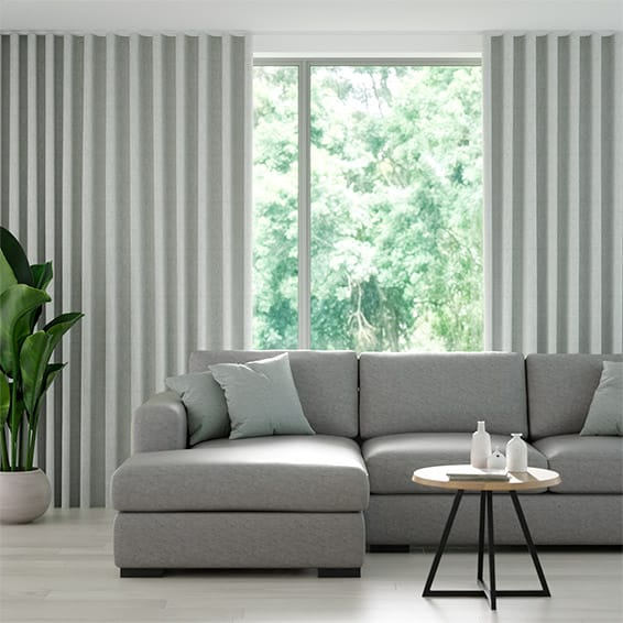 Wave Eternity Linen Limestone Curtains