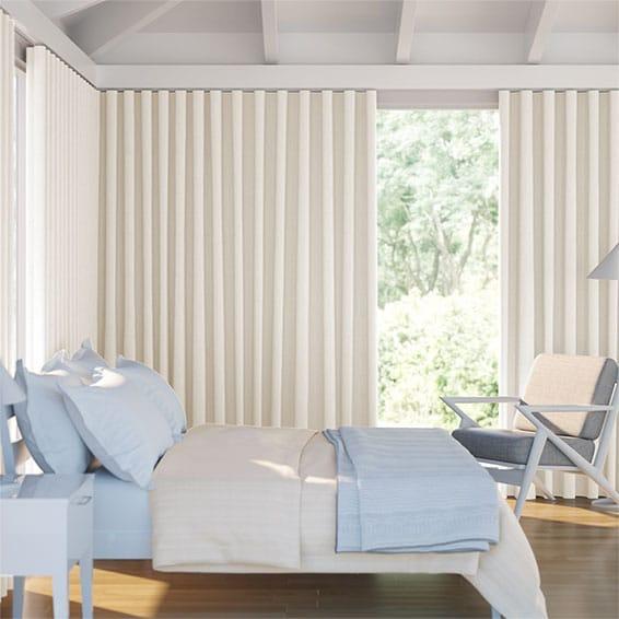 Wave Cavendish Cream Curtains