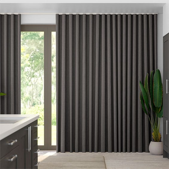 Wave Cavendish Grey Taupe Curtains