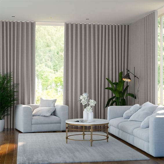 Wave Cavendish Grey Wash Curtains