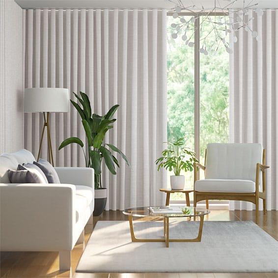Wave Dupioni Faux Silk Pearl Curtains