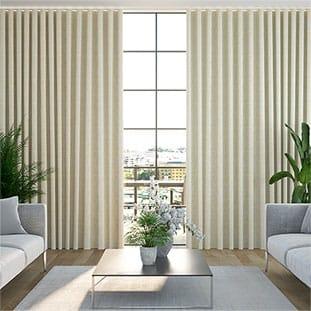 Wave Paleo Linen Vintage Cream Wave Curtains thumbnail image