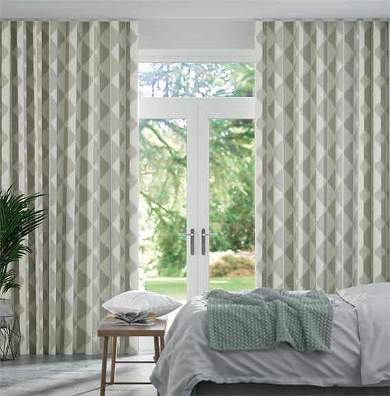 Wave Habutai Pebble Curtains