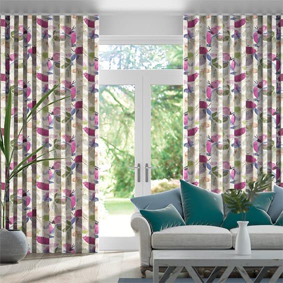 Wave Hadley Linen Vintage Violet Curtains