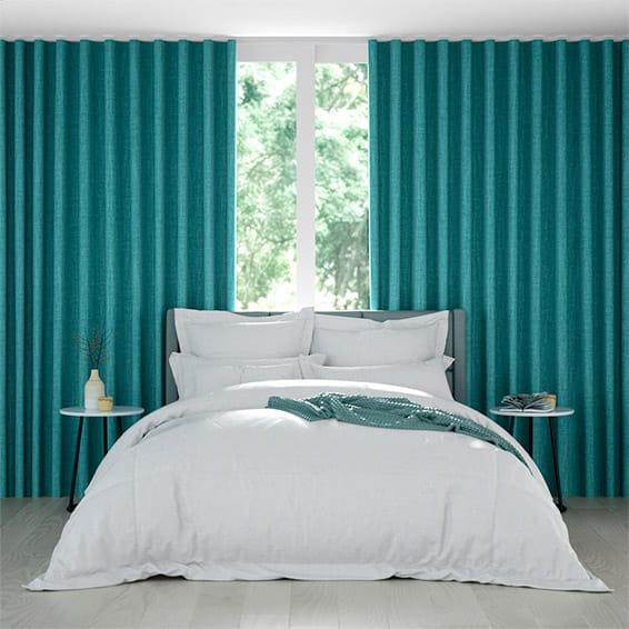 Wave Harrow Caribbean Blue Curtains