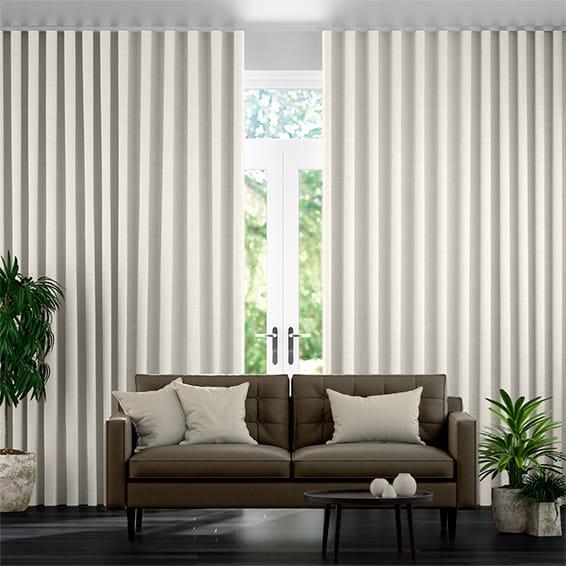 Wave Harrow Cream Curtains