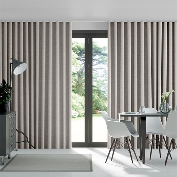 Wave Harrow Grey Wash Curtains