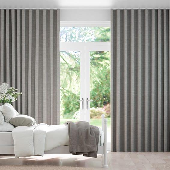Wave Harrow Mid Grey Curtains