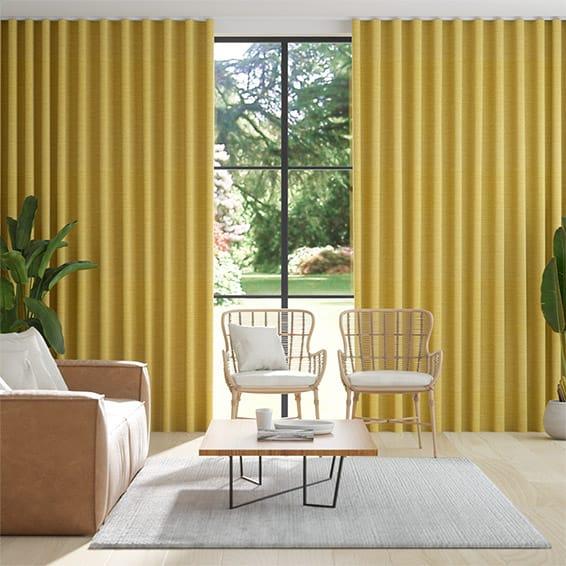Wave Harrow Mimosa Gold Curtains