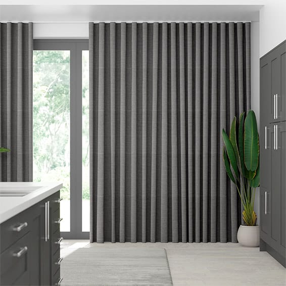 Wave Harrow Tonal Grey Curtains