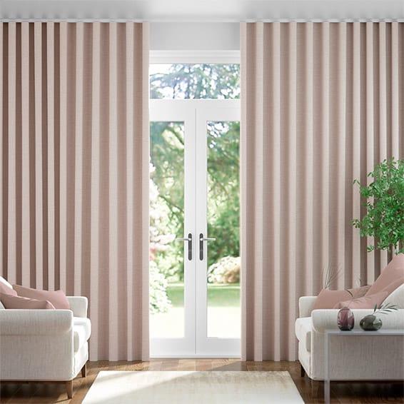 Wave Harrow Warm Blush Curtains