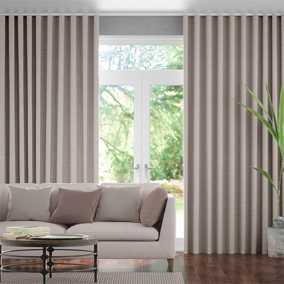 Wave Harrow Warm Stone Curtains