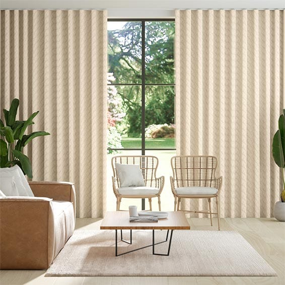 Wave Jinli Gold Curtains