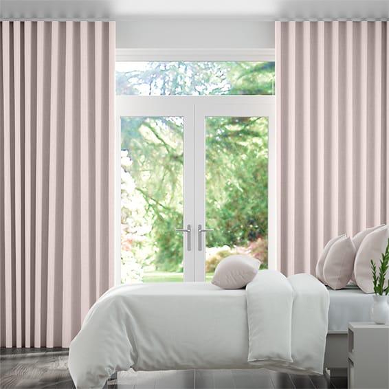Wave Kirkland Soft Pink Curtains