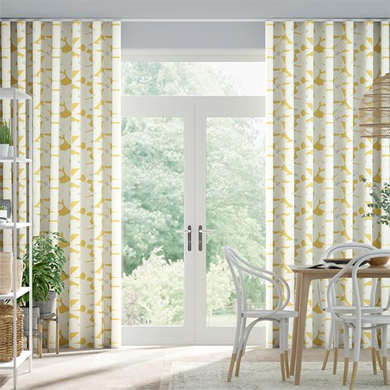 Wave Kukka Honey Curtains