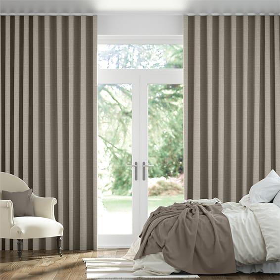 Wave Lanura City Grey Curtains