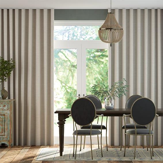 Wave Lanura Grey Wash  Curtains