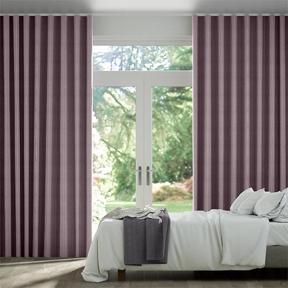 Wave Leyton Royal Purple Curtains