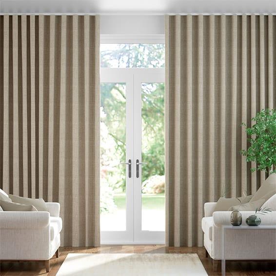 Wave Linen Hopsack  Curtains