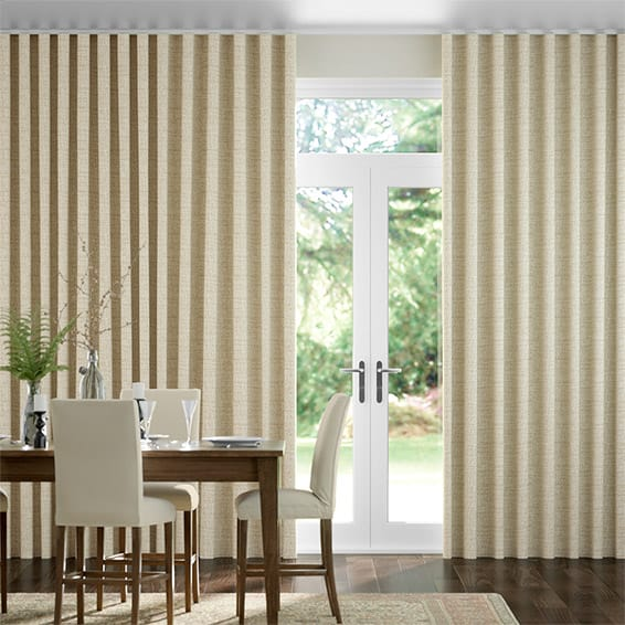Wave Mallay Latte Cream Curtains