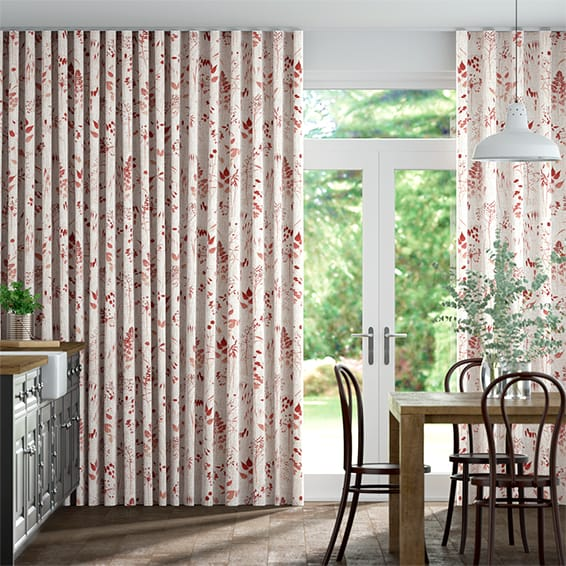 Wave Meadow Coral Curtains