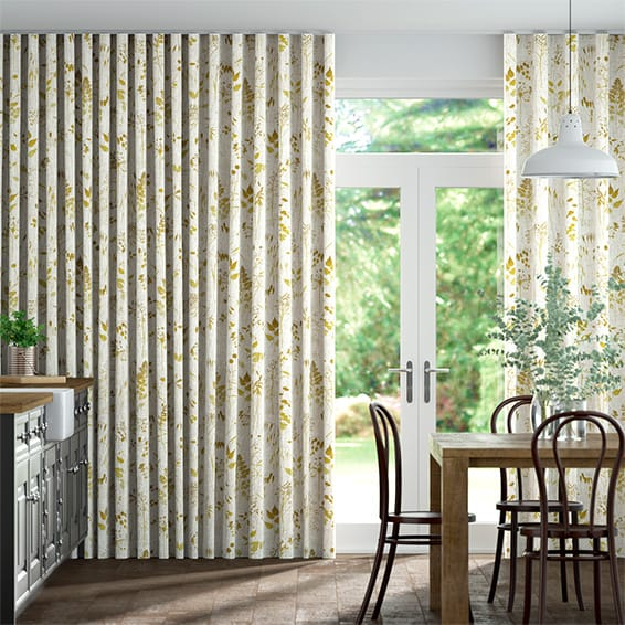 Wave Meadow Ochre Curtains