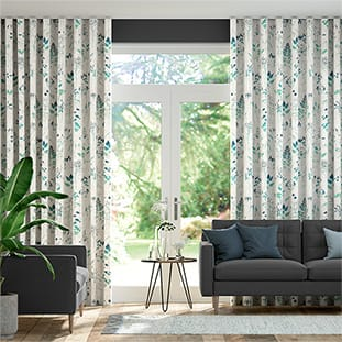 Wave Meadow Teal Wave Curtains thumbnail image