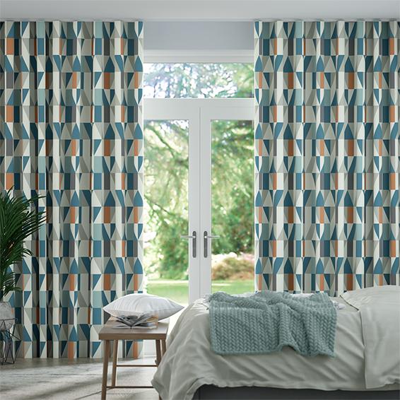 Wave Nuevo Sapphire Curtains