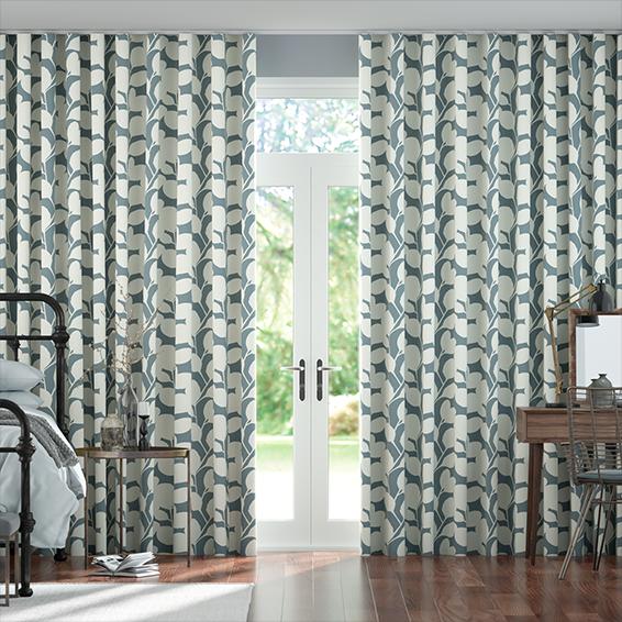 Wave Ocotillo Denim Curtains