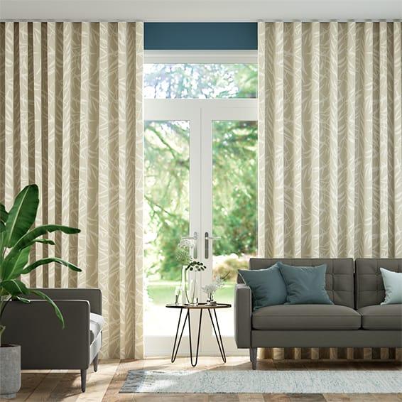 Wave Olmeca Linen  Curtains