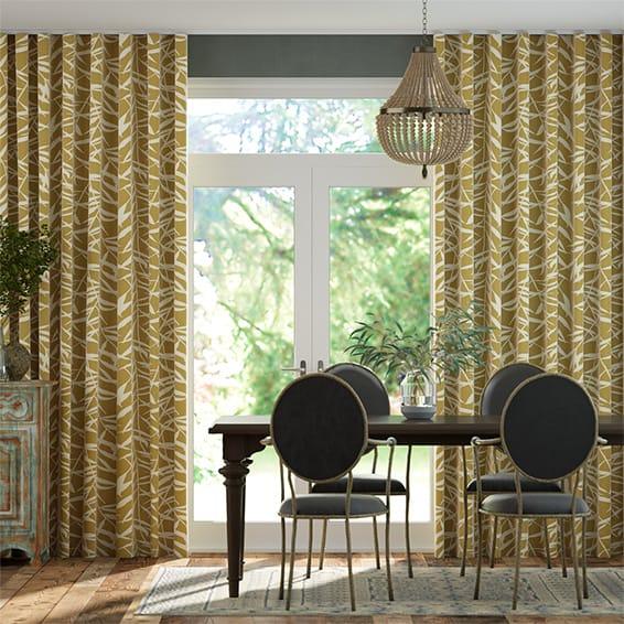 Wave Olmeca Saffron Curtains