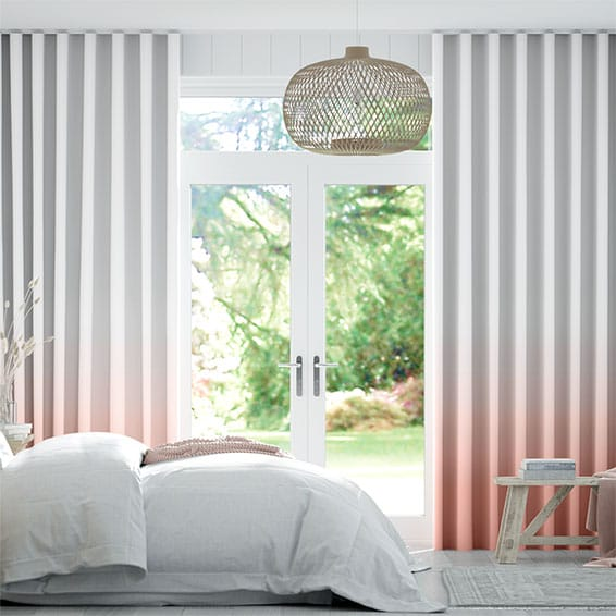 Wave Ombre Blush Curtains