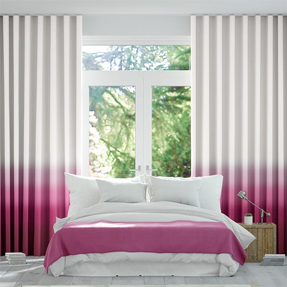 Wave Ombre Fuchsia Curtains