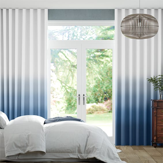 Wave Ombre Midnight Curtains