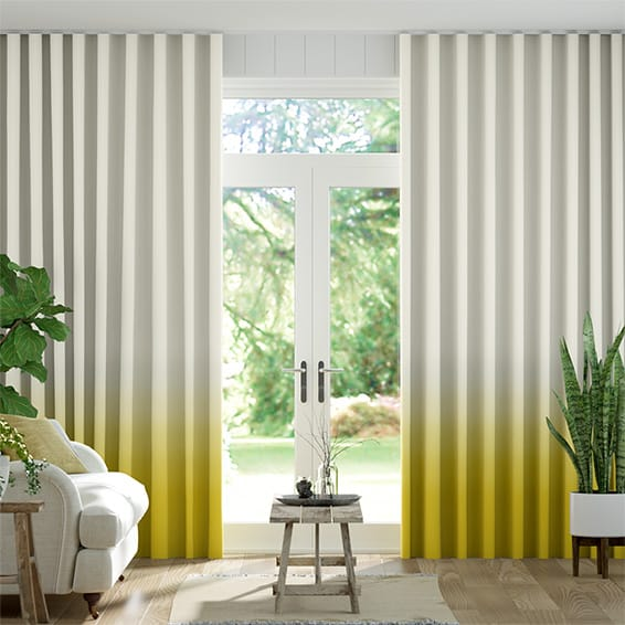 Wave Ombre Ochre Curtains