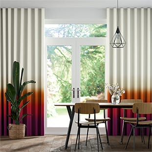 Wave Ombre Sunset Wave Curtains thumbnail image