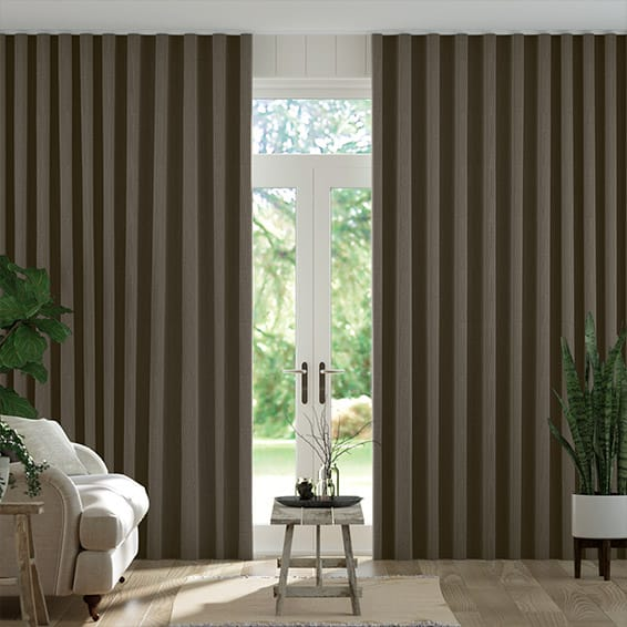 Wave Paleo Linen Taupe  Curtains