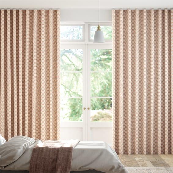Wave Poacea Blush  Curtains