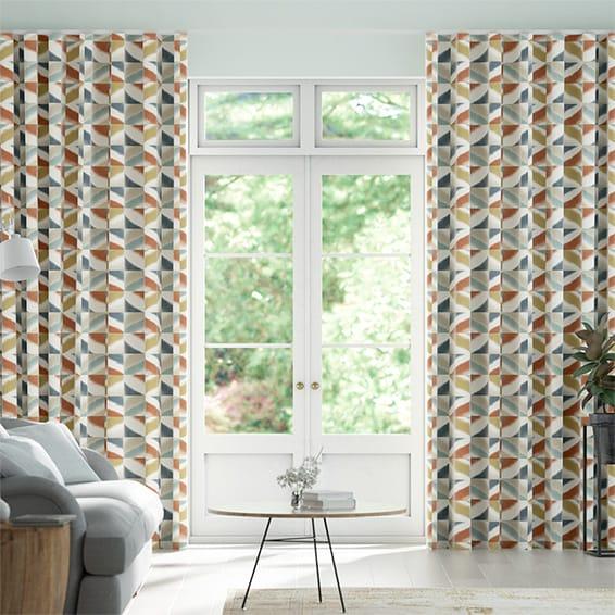 Wave Quadro Sahara Curtains