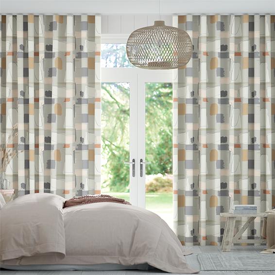 Reishi Truffle Wave Curtains