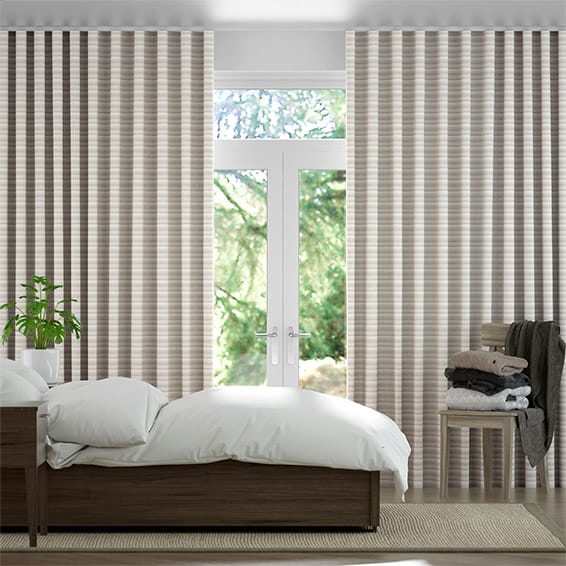Wave Scandinavia Stripe Aqua Curtains