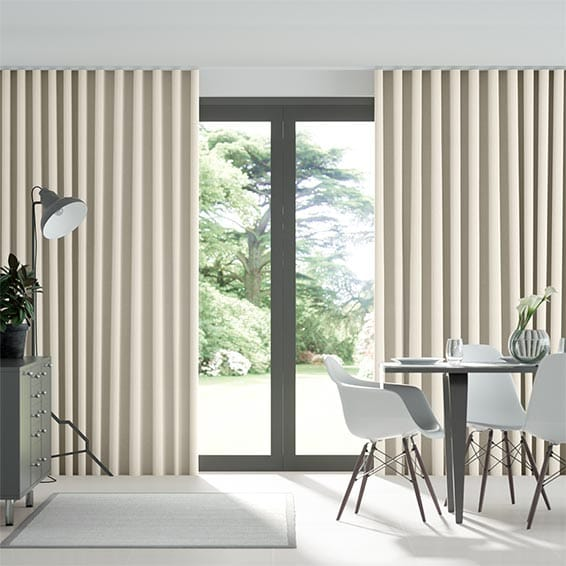 Wave Scintilla Crème Café Curtains