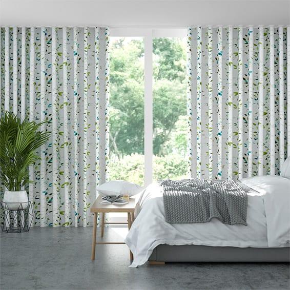 Wave Secret Garden Bluegrass Curtains